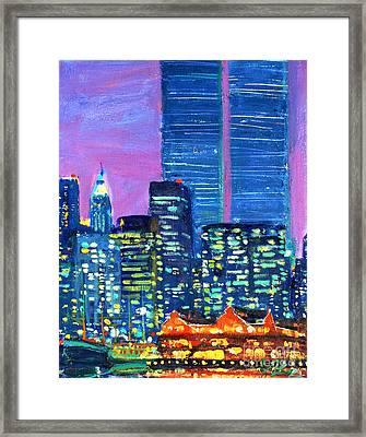 Pier 17 Summer Night 2001 Framed Print