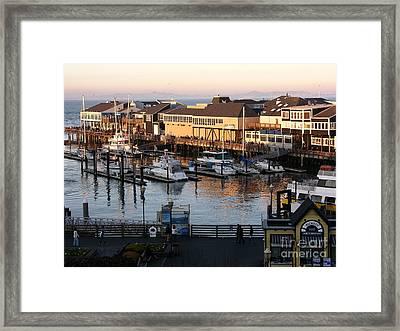 Pier 39 In The Sunshine Framed Print