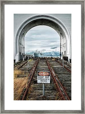 Pier 43 Ferry Arch San Francisco California Framed Print by Mary Lee Dereske