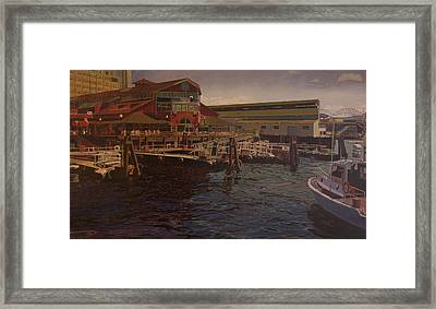 Pier 55 - Red Robin Framed Print