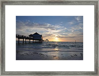 Pier 60 At Clearwater Beach Florida Framed Print by Bill Cannon