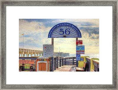 Pier Access 56 Panama City Beach Framed Print