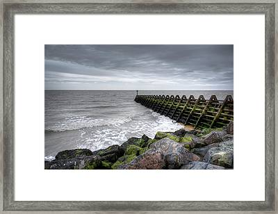 Pier And Sea Framed Print
