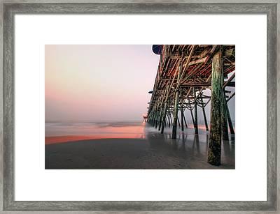 Pier And Surf Framed Print