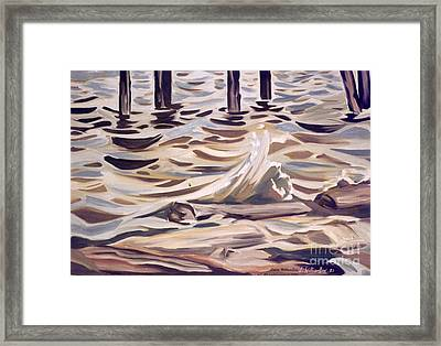 Pier At Granthams Landing Framed Print