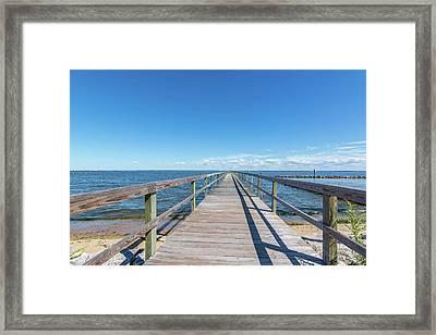 Pier At Highland Beach Framed Print