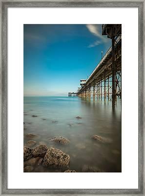 Pier At Llandudno, North Wales Framed Print