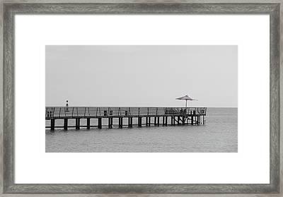 Pier At Redsea Framed Print