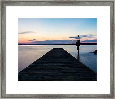 Pier At Sunset 16x20 Framed Print