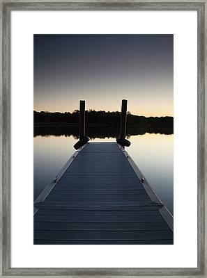 Pier At Twilight Framed Print by Andrew Soundarajan