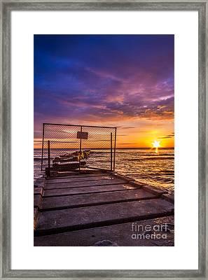 Pier Closed Framed Print by Andrew Slater