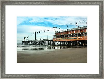 Pier Daytona Beach Framed Print by Carolyn Marshall