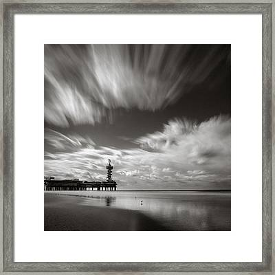 Pier End Framed Print by Dave Bowman