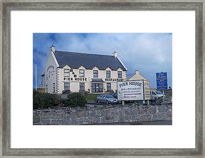 Pier House Restaurant Aran Islands Framed Print by Betsy Knapp