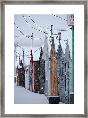 Pier Houses In January 2010 Framed Print