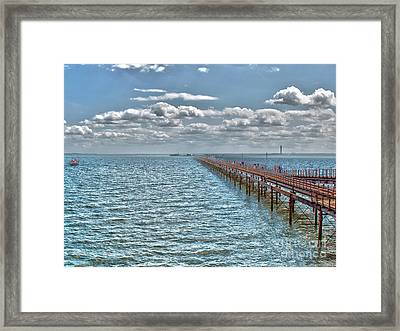 Pier Into The English Channel Framed Print
