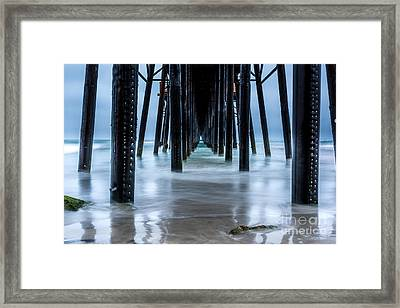Pier Into The Ocean Framed Print by Leo Bounds
