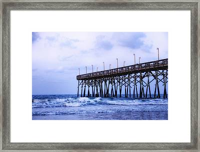 Pier Into The Sea Framed Print