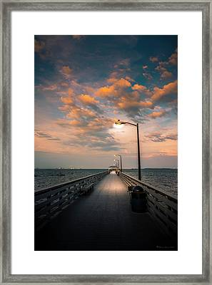 Pier Lights Framed Print