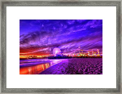 Pier Of Lights Framed Print