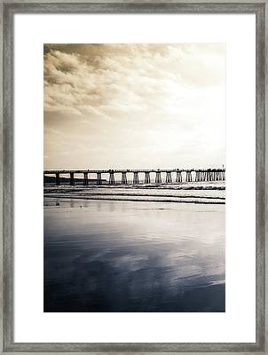 Pier On Duotone Framed Print