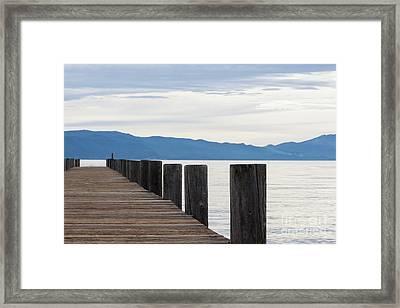 Pier On The Lake Framed Print