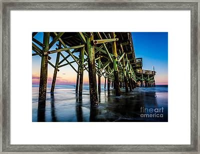 Pier Perspective Framed Print by David Smith