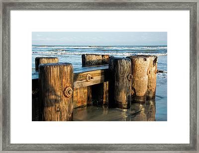 Pier Perspective Framed Print
