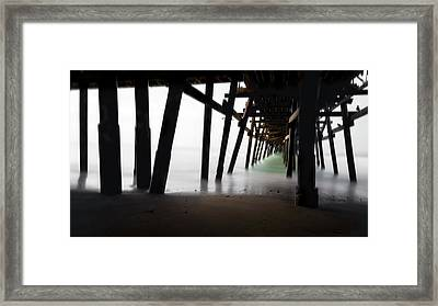 Framed Print featuring the photograph Pier Pressure by Sean Foster