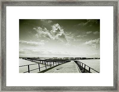 Pier-shaped Framed Print