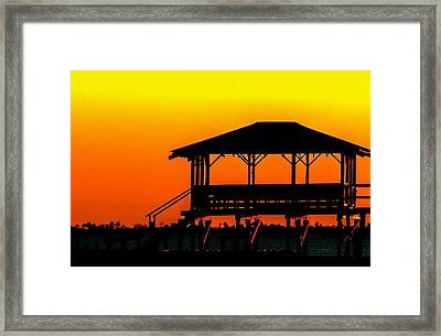 Pier Silhouette 02 Framed Print by Mark Hazelton