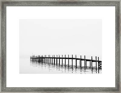 Pier Framed Print by Skip Nall