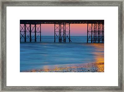 Pier Supports At Sunset I Framed Print