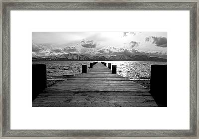 Pier To Mount Tallac Lake Tahoe Framed Print by Brad Scott