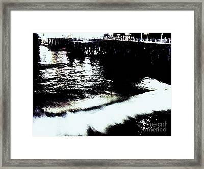 Framed Print featuring the photograph Pier by Vanessa Palomino