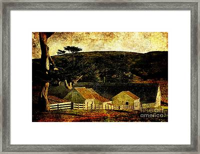Pierce Point Ranch 18 . Texture Framed Print by Wingsdomain Art and Photography