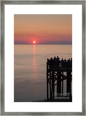 Pierce Stocking Overlook Sunset Framed Print