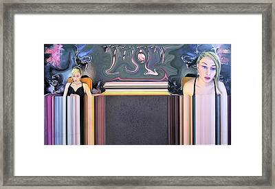 Pierced Septum Framed Print by Richard Barone