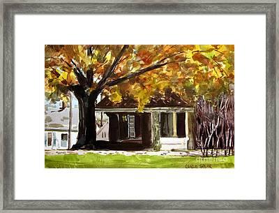 Pierceton By The R.r. Station Framed Print