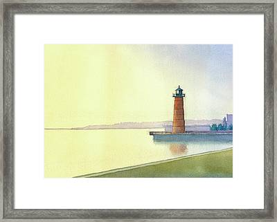 Pierhead Lighthouse, Milwaukee Framed Print