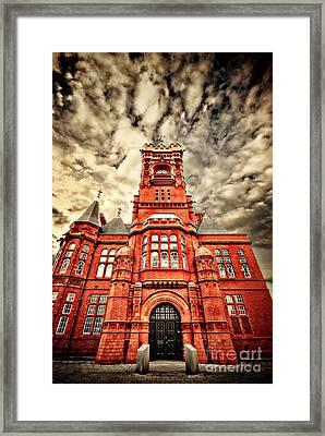 Pierhead Framed Print by Meirion Matthias