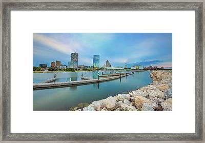 Piering On Milwaukee Framed Print