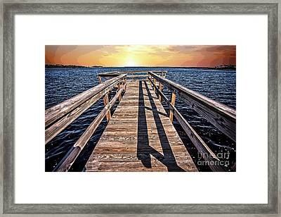 Pierless Sunrise Framed Print
