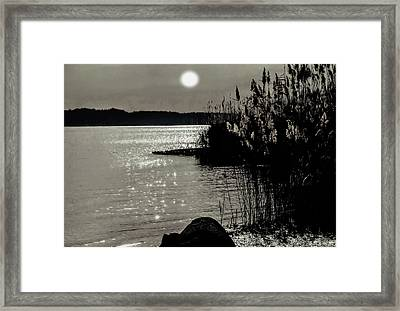 Framed Print featuring the photograph Piermont Hudson River View by Roger Bester