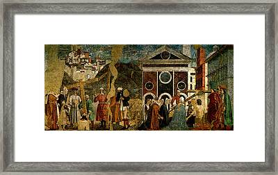 Piero Della Francesca Discovery And Proof Of The True Cross Framed Print by Piero della Francesca