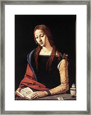 Piero Di Cosimo St Mary Magdalene S Framed Print by Piero di Cosimo