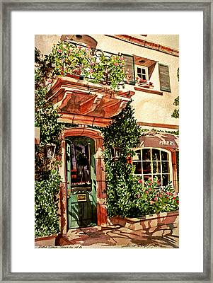 Pierre Deux Framed Print by David Lloyd Glover