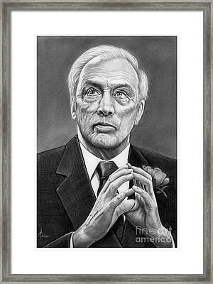 Pierre Elliott Trudeau Framed Print by Murphy Elliott