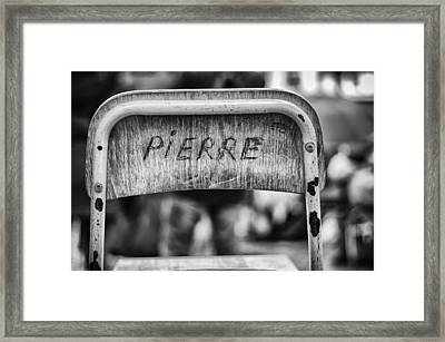 Pierre Framed Print by Pablo Lopez