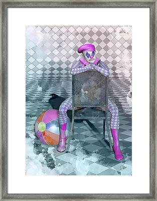 Pierrette Watercolor  Framed Print by Quim Abella